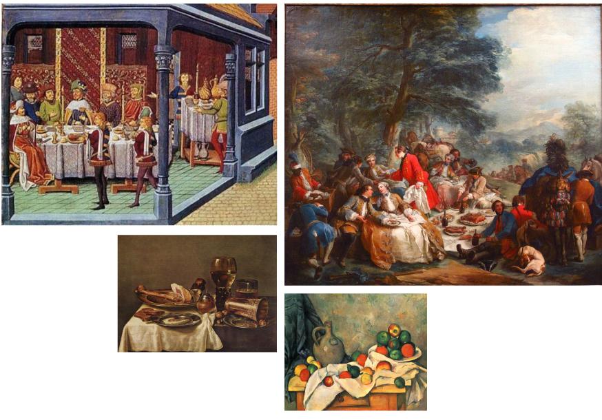 Essen in allen Kunstepochen