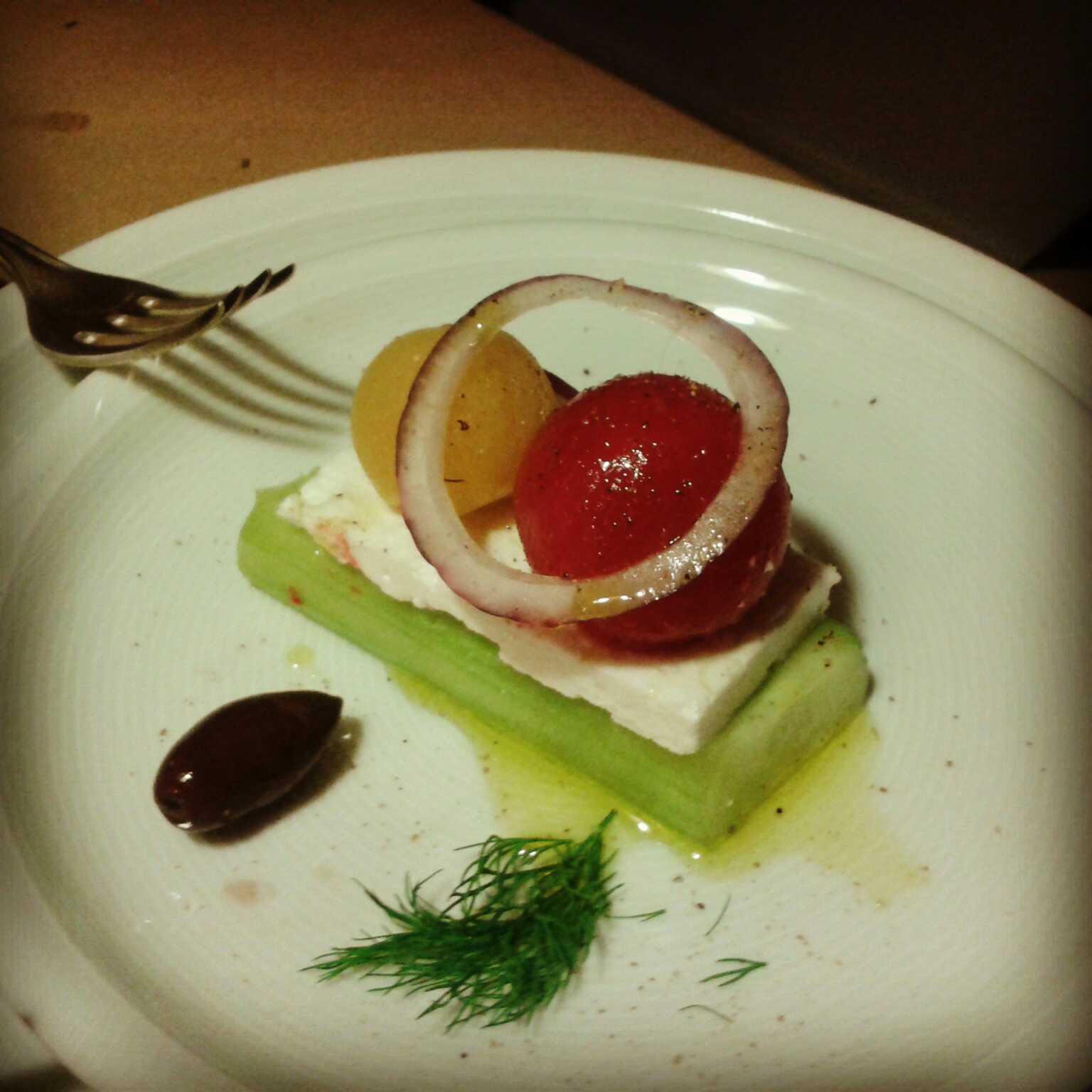 Guerilla Dinner - Decontructing Greek Salad