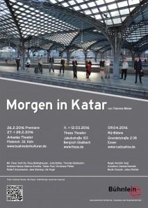 Plakat - Morgen in Katar, Bühnlein brillant