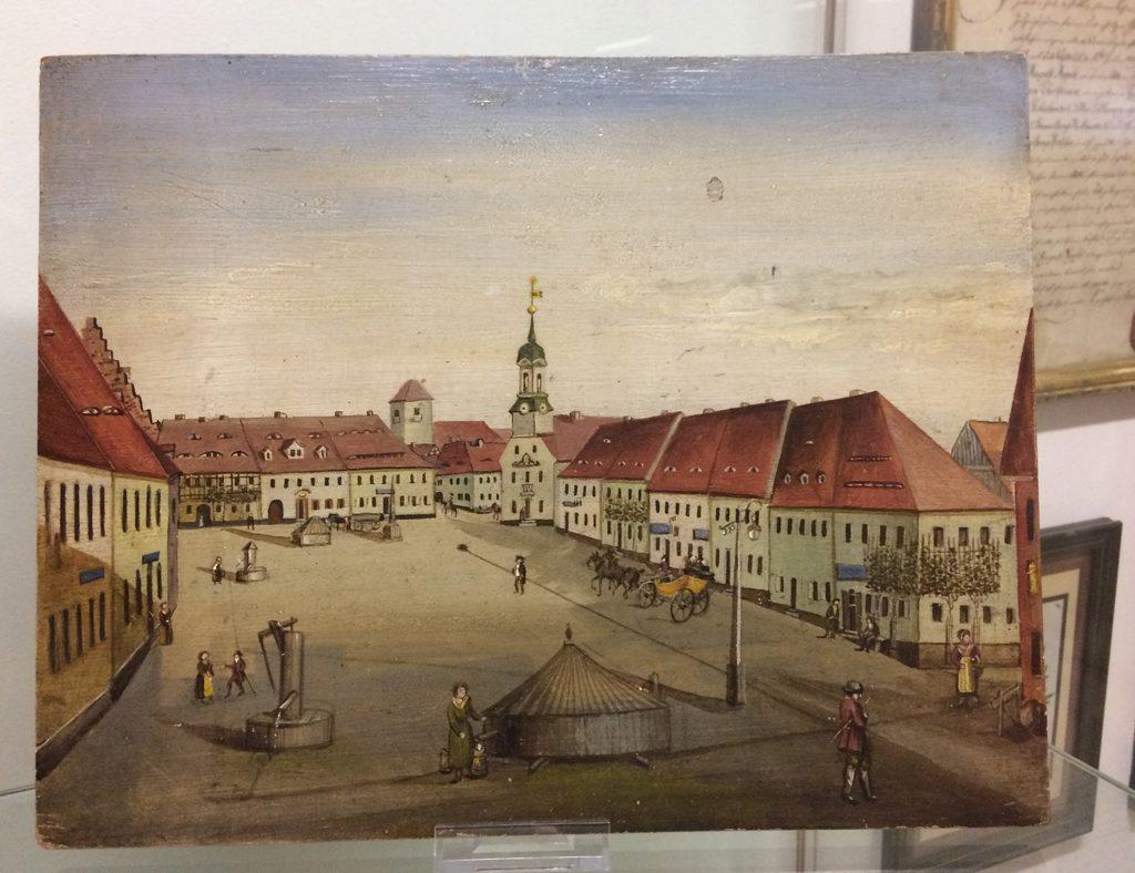 Historische Ansicht, Wilsdruff-Marktplatz